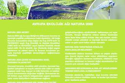 Info sheet on NATURA 2000 on Turkish